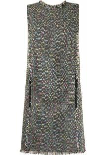 Emporio Armani Vestido Com Detalhe De Tweed - Colorido