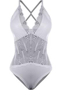 Body Outletdri Paete Alcinha Decote Decotado Detalhe Em Renda V Branco