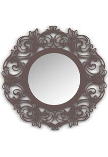 Espelho De Parede 12874I Marrom 70X70 Art Shop