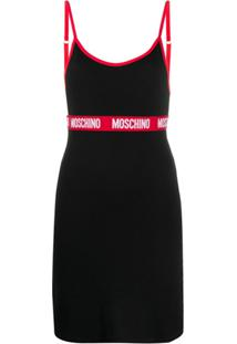 Moschino Camisola Com Acabamento De Logo - Preto