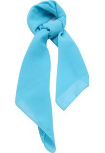 Lenço Smm Acessorios Liso Azul Turquesa