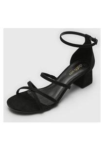 Sandália Dafiti Shoes Tiras Preta