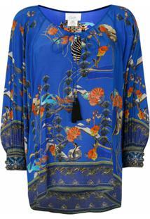 Camilla Blusa Tree Of Life - Azul
