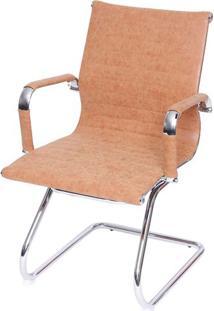 Cadeira Escritorio Eames Fixa Courissimo Retro Caramelo 37607 - Sun House
