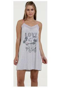 Camisola Feminina Estampa Mickey E Minnie Disney