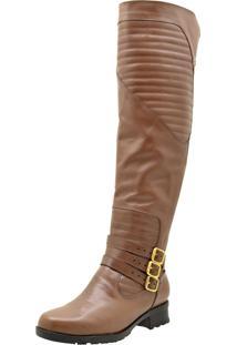 Bota Over Knee Atron Shoes 9111 Brandy