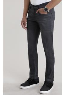 Calça Jeans Slim Com Algodão + Sustentável Preta