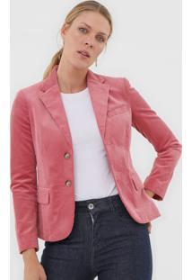Blazer Polo Ralph Lauren Veludo Cotelê Rosa - Kanui