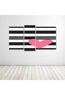Quadro Decorativo - Coração - Composto De 5 Quadros