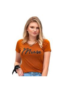 Camiseta Miss Glamour Store Muse Suede