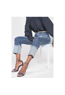 Calça Cropped Jeans Forum Slim Lolita Azul