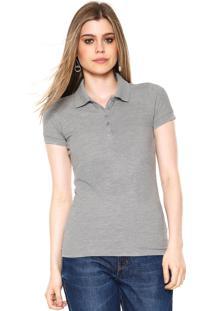 a0e6307389 -26% Camisa Polo Hering Lisa Cinza