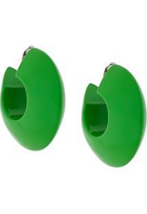 Marni Par De Brinco De Argolas - Green