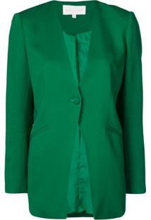 Michelle Mason Blazer Sem Lapela - Verde