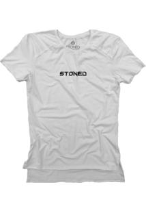Camiseta Stoned Longline Gold Pump Branco