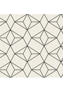 Papel De Parede Bege Geométrico Moderno 57X270Cm