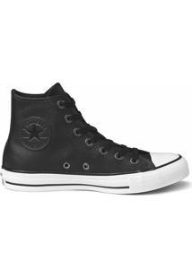 Tênis Converse All Star Chuck Taylor Ox Couro - Masculino-Preto