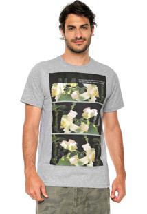 Camiseta Fiveblu Manga Curta Nature Glitch Cinza