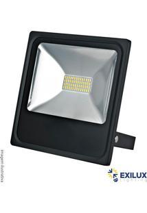 Refletor De Led Em Alumínio 30W Ip35 3000K 2100 Lúmens Cor De Luz: Amarela - Exilux