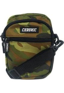 Bolsa Chronic Shoulder Bagcam09 - Unissex-Verde Escuro+Preto