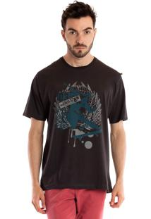 Camiseta Básica Konciny Manga Curta Marrom
