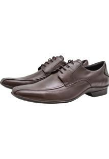 Sapato Social Corazzi Leather Deluxe Numeração Especial Marrom