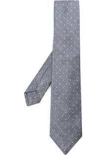 Kiton Gravata Com Bordado De Poás - Grey