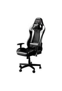 Cadeira Gamer Bunker Preta Com Branco Pro E-Sports Ergonomica Reclinavel