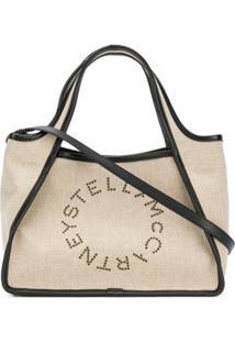 Stella Mccartney Bolsa Tote Com Logo - Marrom
