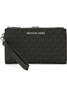 Michael Michael Kors Carteira Double Zip Com Logo - Preto