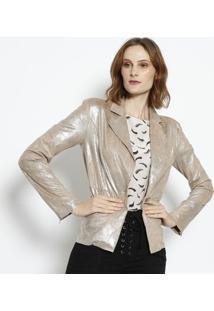 395a1f106e ... Blazer Beth Em Suede Metalizado - Bege   Dourado - Lle Lis Blanc