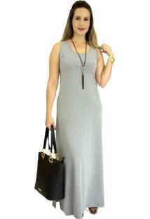 Vestido Pau A Pique Básico Cinza