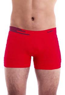 Cueca Boxer Lupo Microfibra Sem Costura Vermelho 436/5640 - M