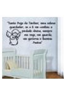 Adesivo De Parede Frase Santo Anjo Mod. 2 - Eg 71X150Cm
