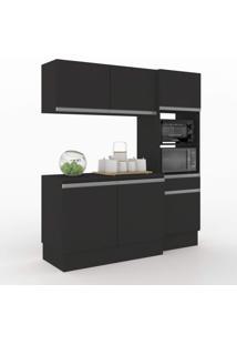 Cozinha Compacta 3 Peças 6 Portas Dion Vedere Preto