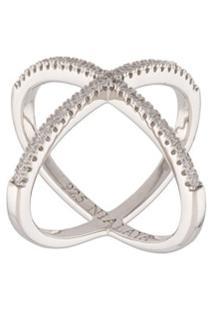 Nialaya Jewelry Anel Em Prata De Lei - Cinza