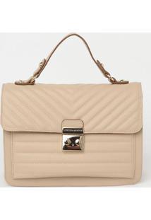 Bolsa Com Bolso & Bag Charm - Bege - 20X24X12Cmloucos E Santos