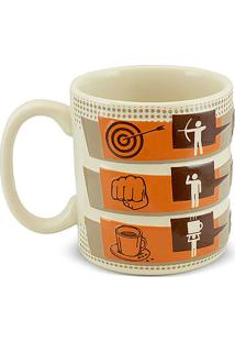 Caneca Coffe Time-Foco 300Ml-Mondoceram - Areia