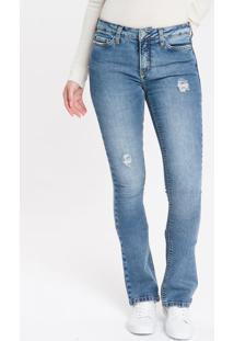 Calça Jeans Five Pockets Kick Flare - Azul Claro - 34