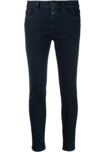 Closed Cropped Skinny Jeans - Azul