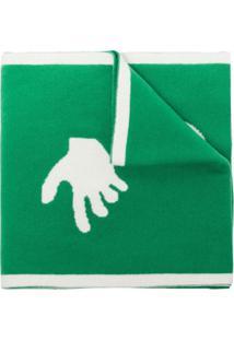 Off-White Cachecol De Tricô Com Detalhe De Logo - Verde
