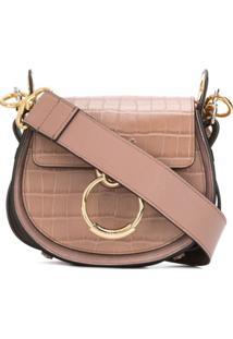 Chloé Small Tess Shoulder Bag - Marrom
