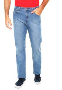 Calça Jeans Lacoste Reta Estonada Azul