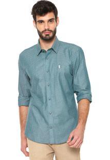 Camisa Sergio K Slim Xadrez Vichy Verde/Azul