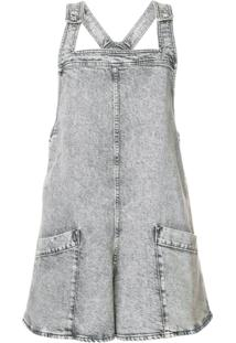 Stella Mccartney Jardineira Jeans - Cinza