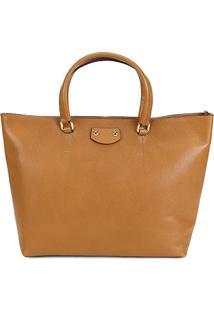 2a93edfd4542d2 Bolsa Feminina Couro Luz Da Lua Caramelo Feminino-Caramelo - Shopper