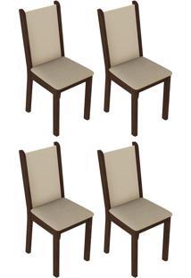 Kit 4 Cadeiras Mdf E Mdp Madesa