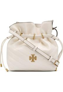 Tory Burch Bolsa Bucket Matelassê Mini - Branco