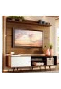 Rack Madesa Dubai E Painel Para Tv Até 65 Polegadas Com Pés - Rustic/Branco 6E5Z