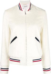 Saint Laurent Jaqueta Bomber 'Giubbotto' - Branco
